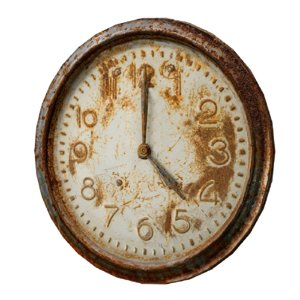 3D rusty wall clock