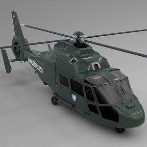3D model bundespolizei airbus dauphin l654
