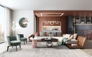 3D sofa table chair