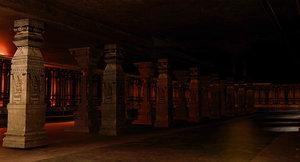 3D temple interior model
