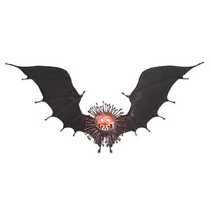 3D corona black coronavirus bat wings