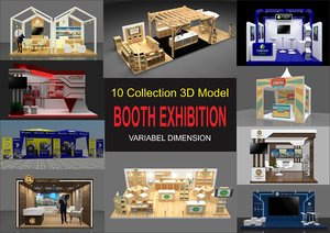 10 booth 3D