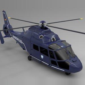 3D bundespolizei airbus dauphin l655