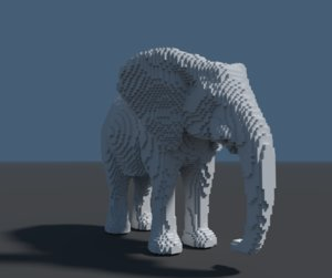 3D elefante model