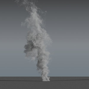 smoke rising 02 - 3D model