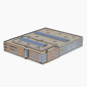3D melsbroek air base building model