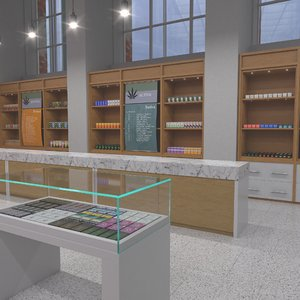 3D cannabis dispensary