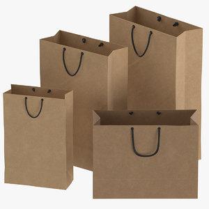 paper bags set 01 3D
