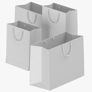 paper bags set 02 3D model