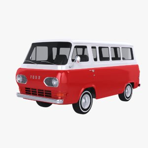 1961 econoline e-100 bus 3D model