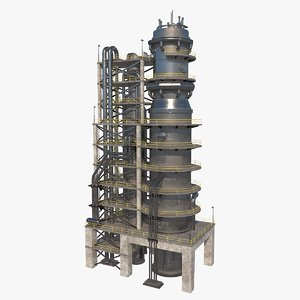 3D model nuclear refinery