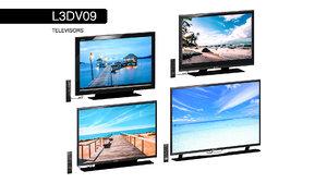 3D televisors set