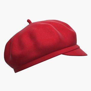woman beret 3D