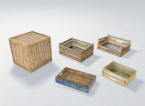 3D wood boxes