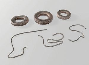tires wires 3D model