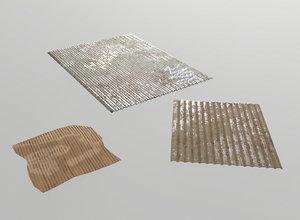 metal cardboard sheets model
