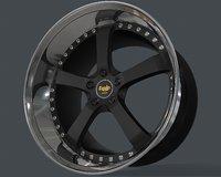 rim equip work wheels 3D model