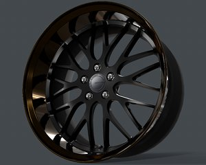 3D rim gnosis work wheels model