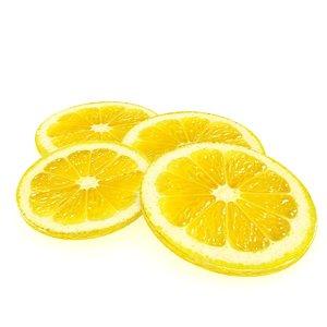 lemon lime fruit slice 3D