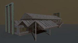 3D model motel pbr exterior