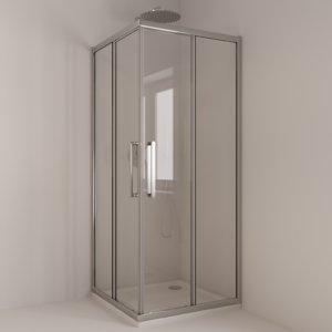 3D extendable shower base mixer