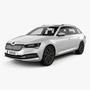skoda superb iv 3D model