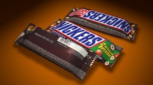 3D chocolate snickers russia