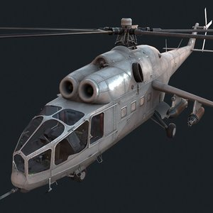 3D soviet russian helicopter