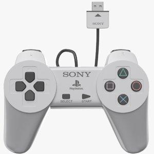 classic playstation controller joystick 3D