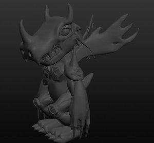 agumon 3D model