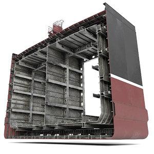 section tanker ship 3D model