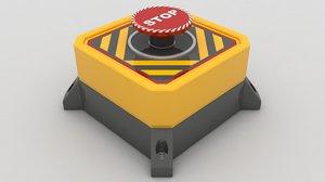 emergency panic button 3D model