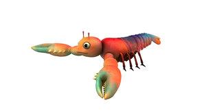 3D lobster cartoon