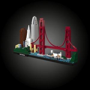 san franciscos 21043 lego 3D model