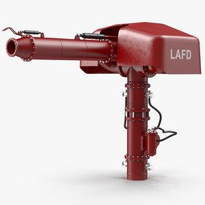 3D fighting water gun rigged