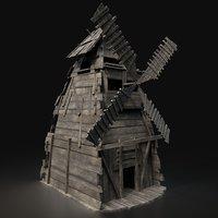 Next Gen AAA Viking Wooden Enterable Fantasy Windmill