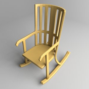 rocking chair 1 3D model
