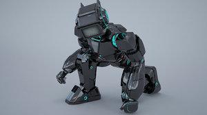 gun robot 3D model