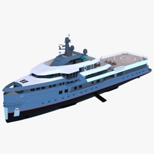 3D expedition yacht seaexplorer explorer model