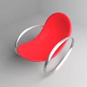 3D rocking chair 5 model