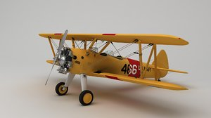 boeing stearman 75 3D model