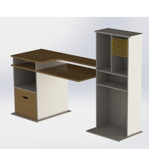 computer table 3D
