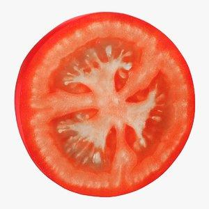realistic tomato slice model