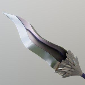 knife seven deadly sins 3D model