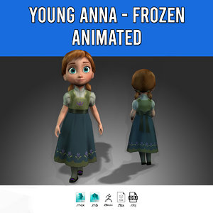 young anna - 3D model