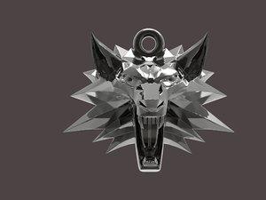 witcher medallion pendant 3D