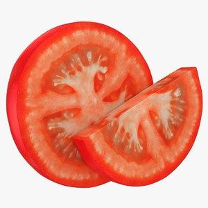 realistic tomato slices 3D model
