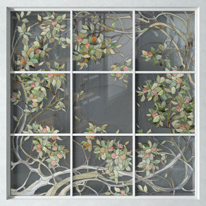 stained glass apple tree 3D model
