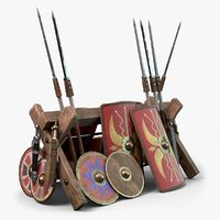 Roman Legion Weapon Rack