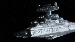 3D star wars destroyer
